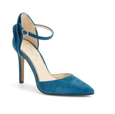 Jessica Simpson Blue pointy high heeled shoes