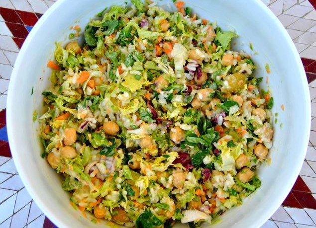 Veganizamos ensalada de arroz y garbanzos - Ensalada de arroz light ...