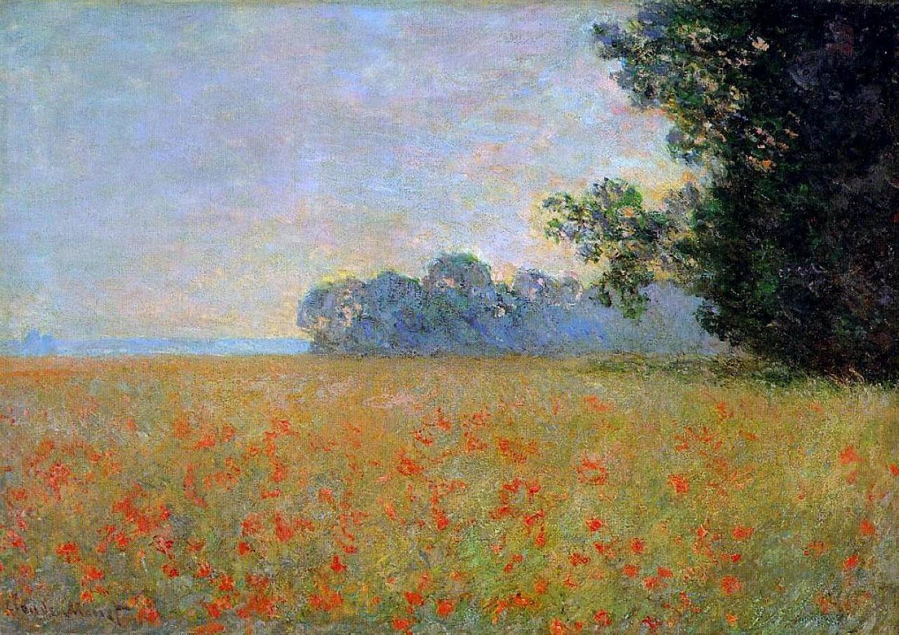 Monet Landscape Field ART & ARTISTS: Cla...