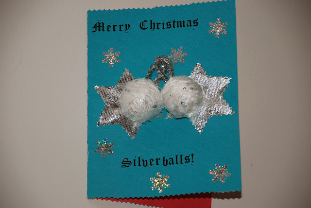 image of home made Christmas card