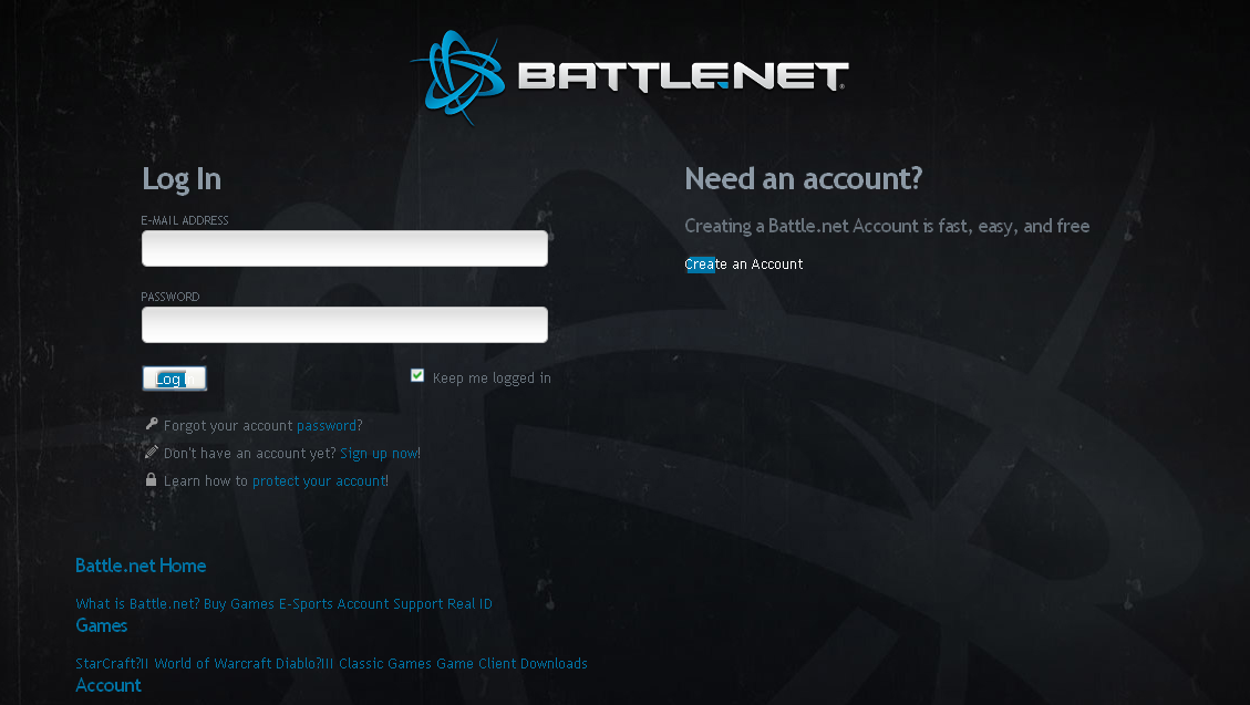 battle login