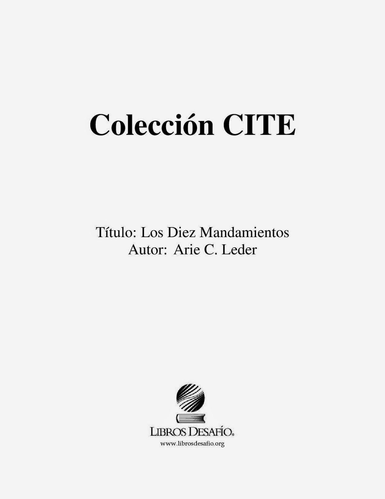 Arie C. Leder-Los Diez Mandamientos-