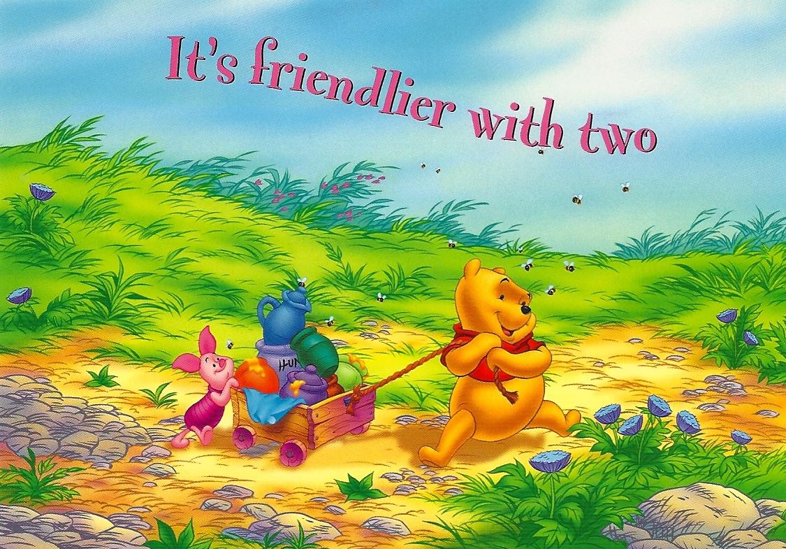 My Favorite Disney Postcards: It's Friendlier with Two ...