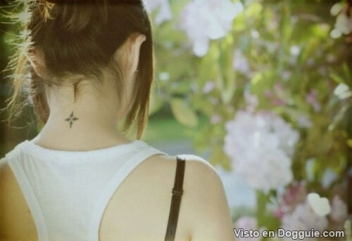 Small Feminine Neck Tattoos