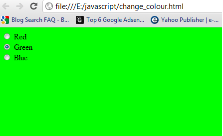 green blue - Page Color Html