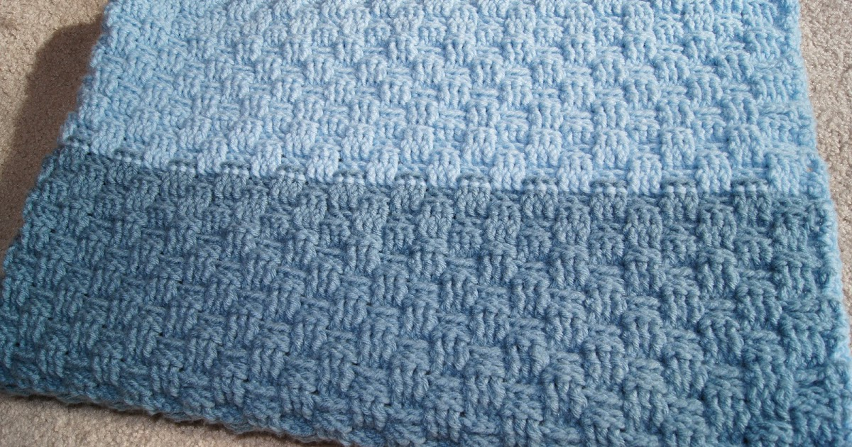 All About Crochet : All About Crochet: Basketweave Baby Blanket