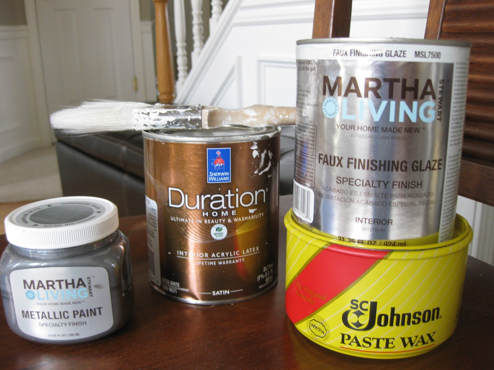that mommy blog ballard designs knockoff diy martha metallic in thundercloud duration home paint from sw in creamy martha faux finishing glaze and johnson paste wax