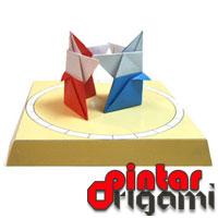 Permainan origami jepang sumo