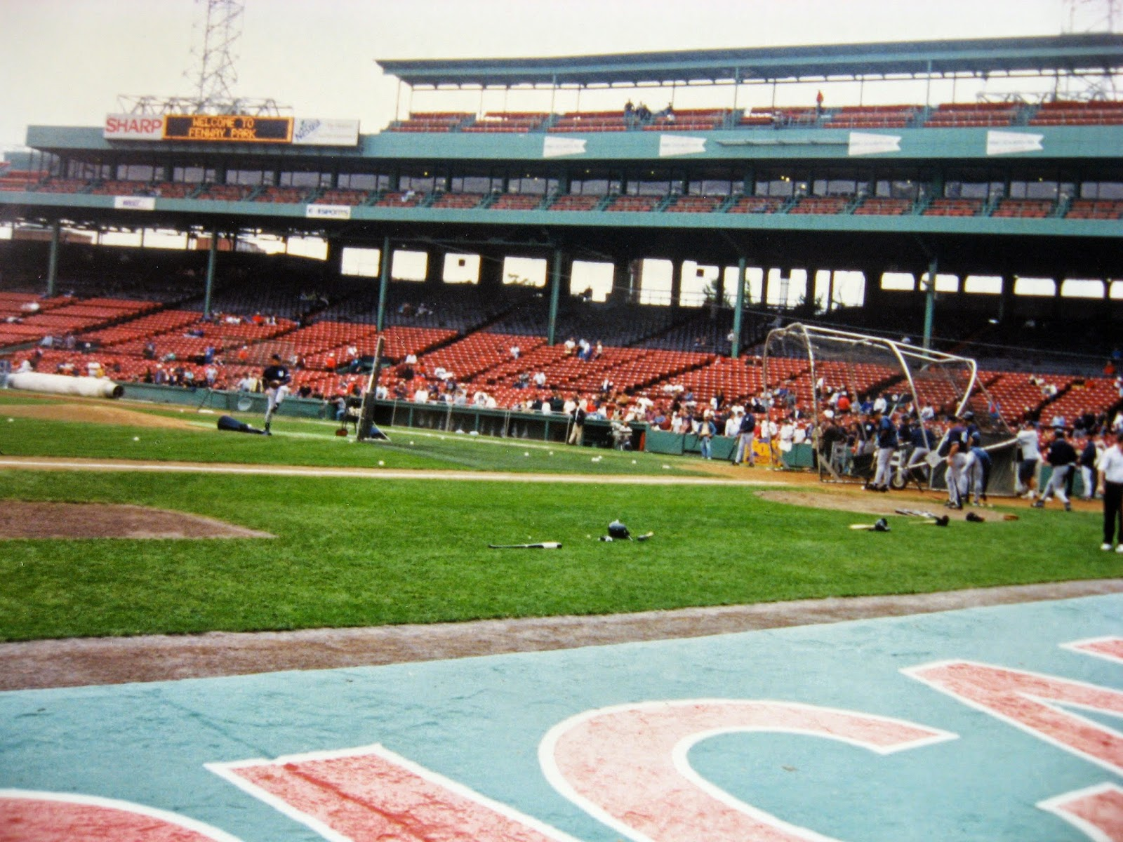 Fenway Park 1996 New York Yankees batting practice