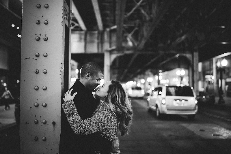 Downtown Chicago Classic Engagement Photo