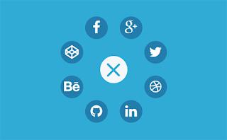 Circular social network widget
