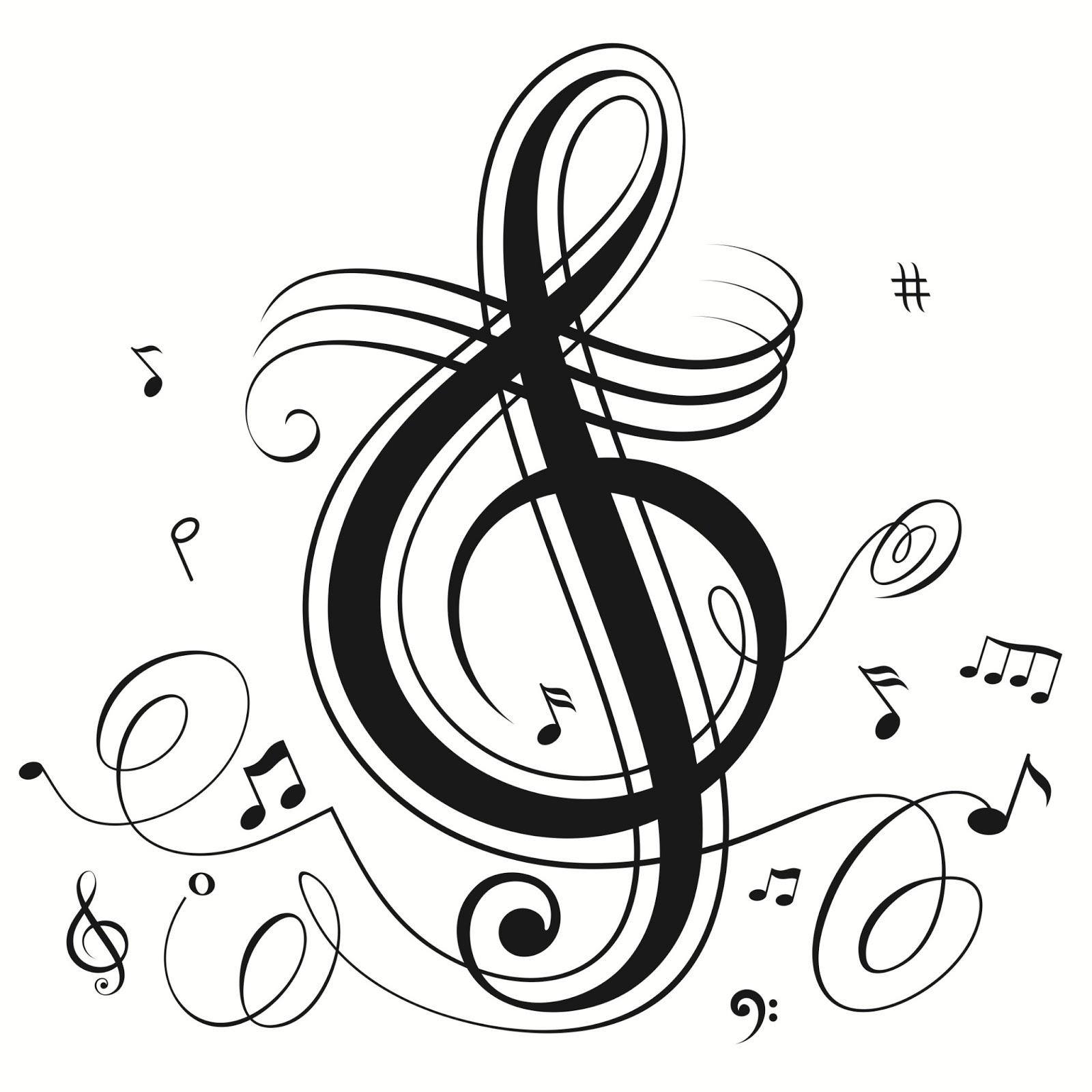 balada de um banco de jardim os azeitonas:Treble Clef Music Note Drawings