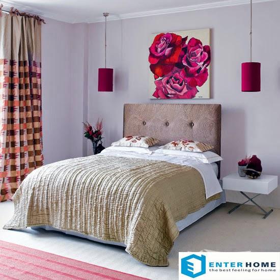 Lãng mạn màu hồng phòng ngủ