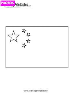 China Flag Coloring Page