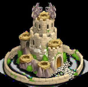imagen de la actualizacion de la torre nidal nivel 2 de dragon city