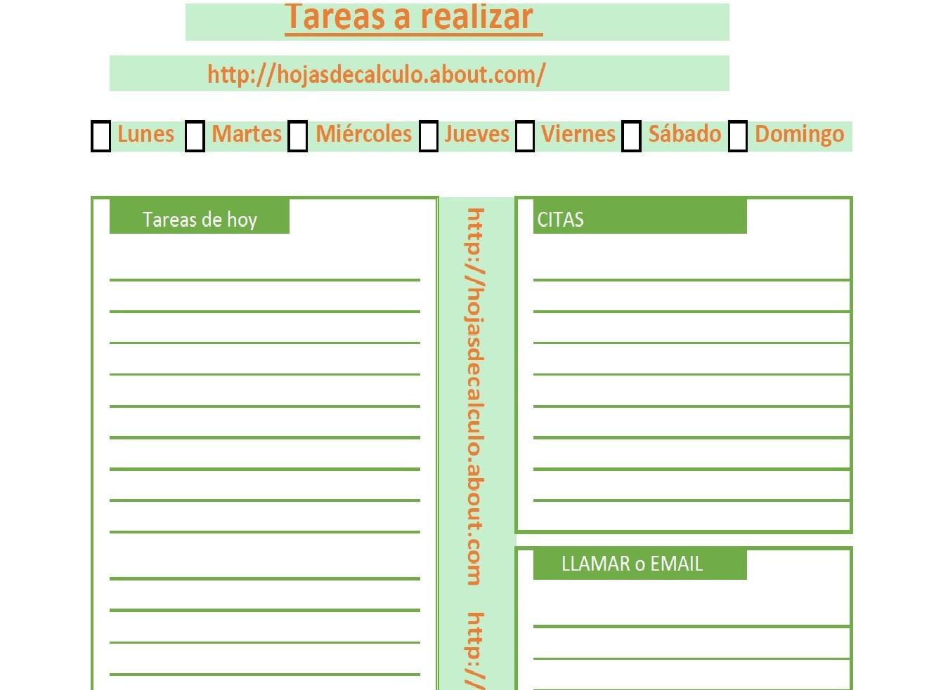 Plantilla Excel para planificar tareas | Hojas Excel fácil: