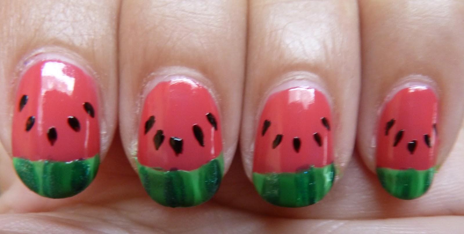 Nailsbystephanie Tutorial Watermelon Nails