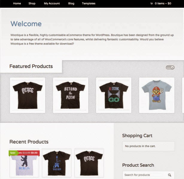Wootique Woocommerce theme