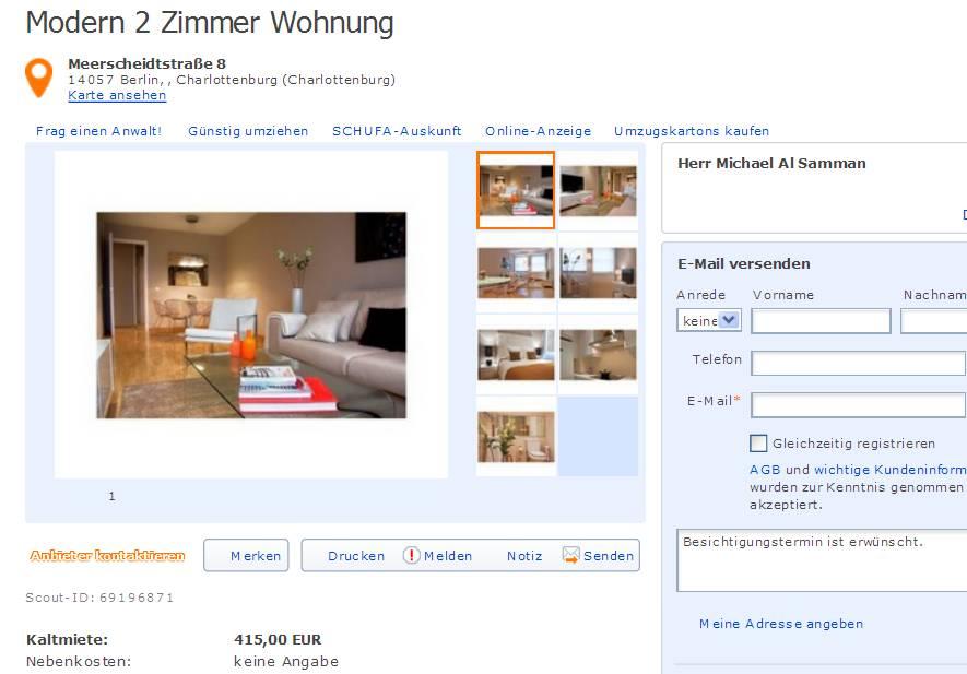 Informationen ber wohnungsbetrug informations about for 2 zimmer wohnung offenbach