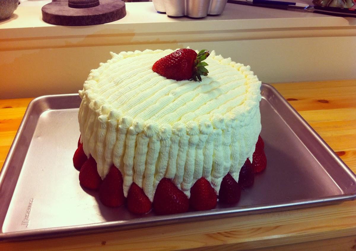 Strawberry Custard Cassata Cake - Corbo's Inspired | Beene's Baking ...