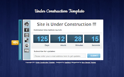 How to Add Under Construction Template for Blogger