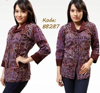 Baju Batik Modern Lengan Panjang Elegan