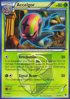 Accelgor Plasma Blast Pokemon Card