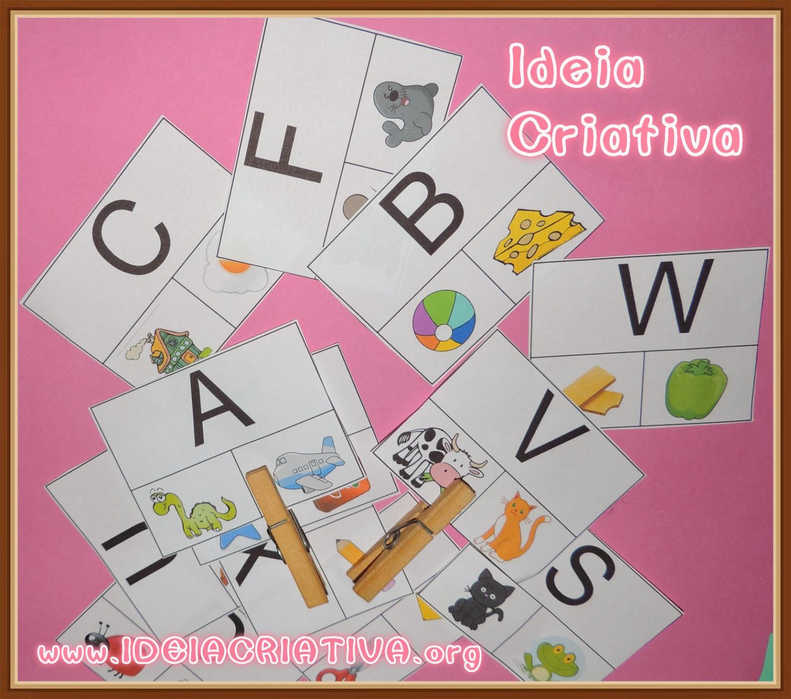 Extremamente Atividade com Flash Cards Letra do Alfabeto | Ideia Criativa - Gi  QY62