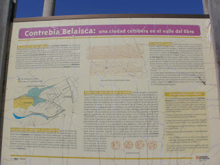 Cartel Contrebia Belaisca yacimiento arqueológico Botorrita