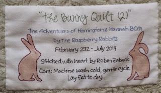 Bunny Quilt 2, label