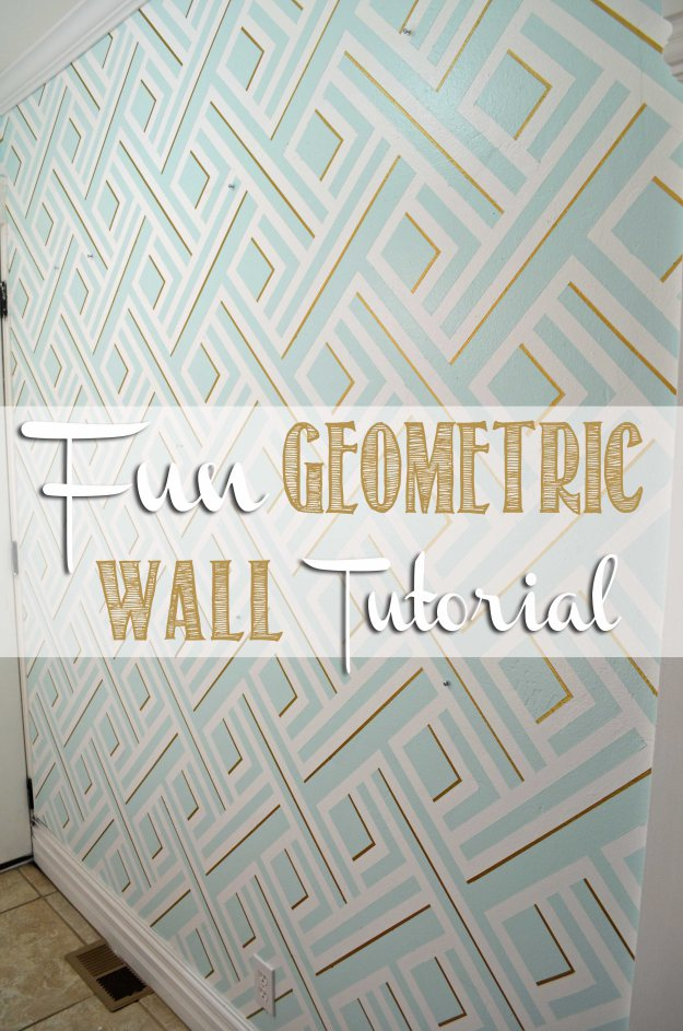 Faux geometric wall tutorial, hertoolbelt