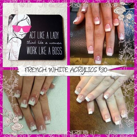 The classic French white acrylics $30