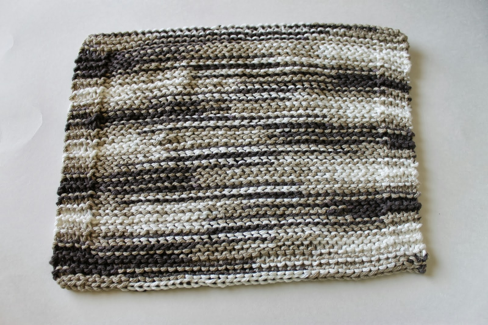 Stay@Home Stitchings: Twisted Stockinette Dishcloth Pattern