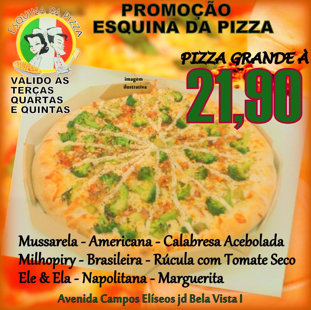 Promoção Esquina da Pizza