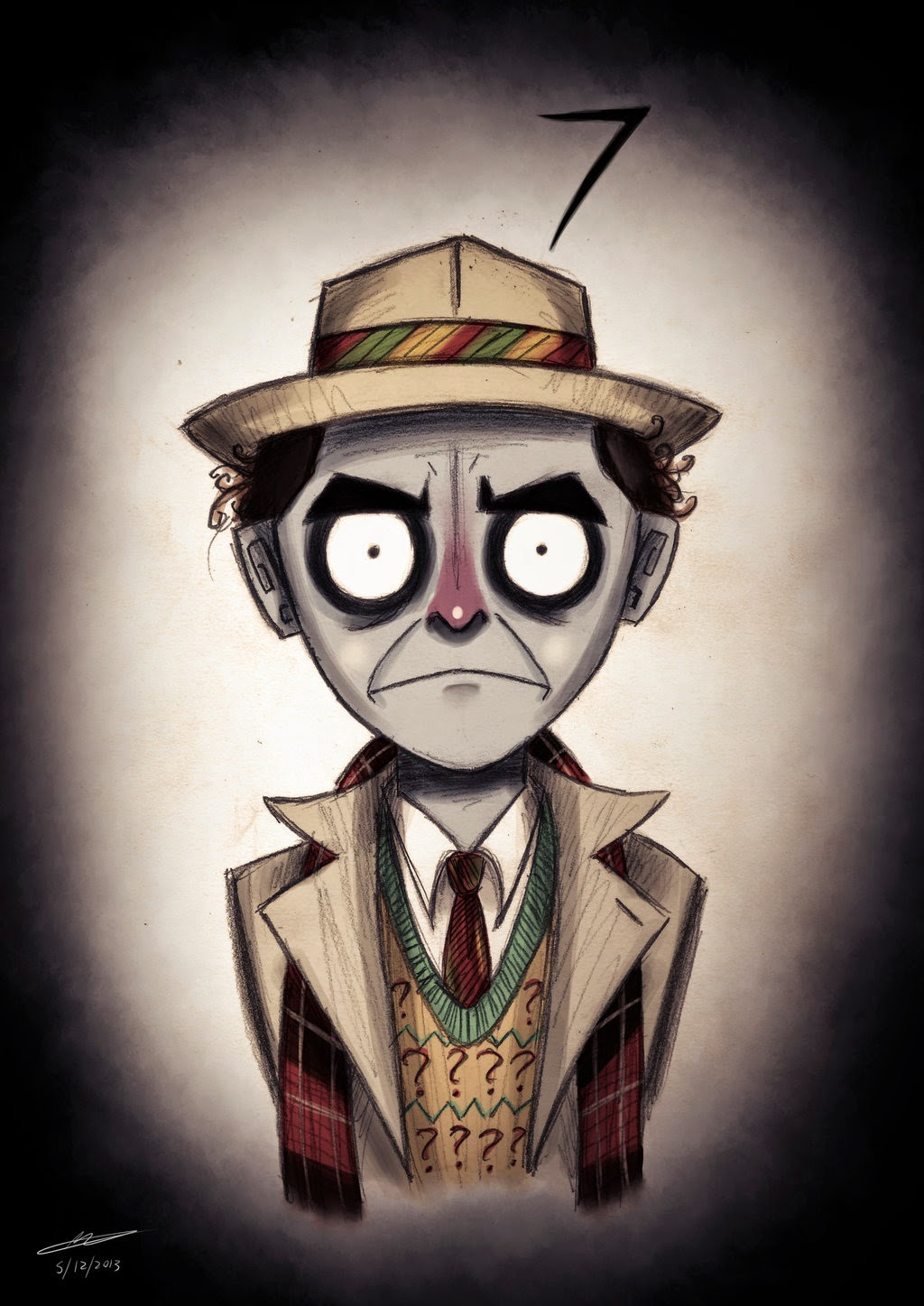 Personagens de Doctor Who ao estilo Tim Burton