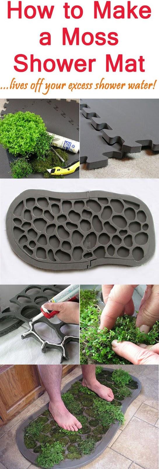 Garden therapy garden tricks for Make a moss bath mat