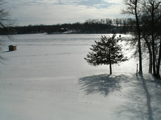 frozen lake in minnesota - time for a hot beef stew