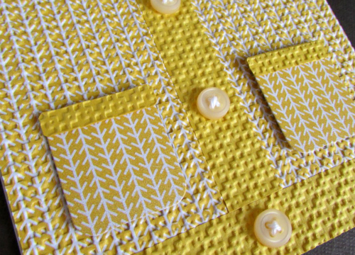 Sweater card pocket detail