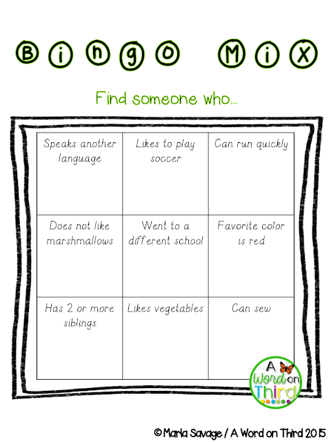 Community Building Bingo Brain Breaks for the FULL YEAR! - By A Word On Third