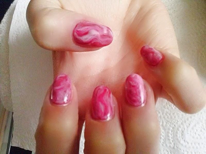 wzorki na paznokciach, hybryda, manicure