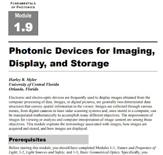 Fundamentals of Photonics : Photonic Devices for Imaging, Display, and Storage