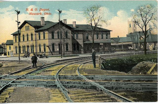vintage railroad postcards 05 31 12. Black Bedroom Furniture Sets. Home Design Ideas