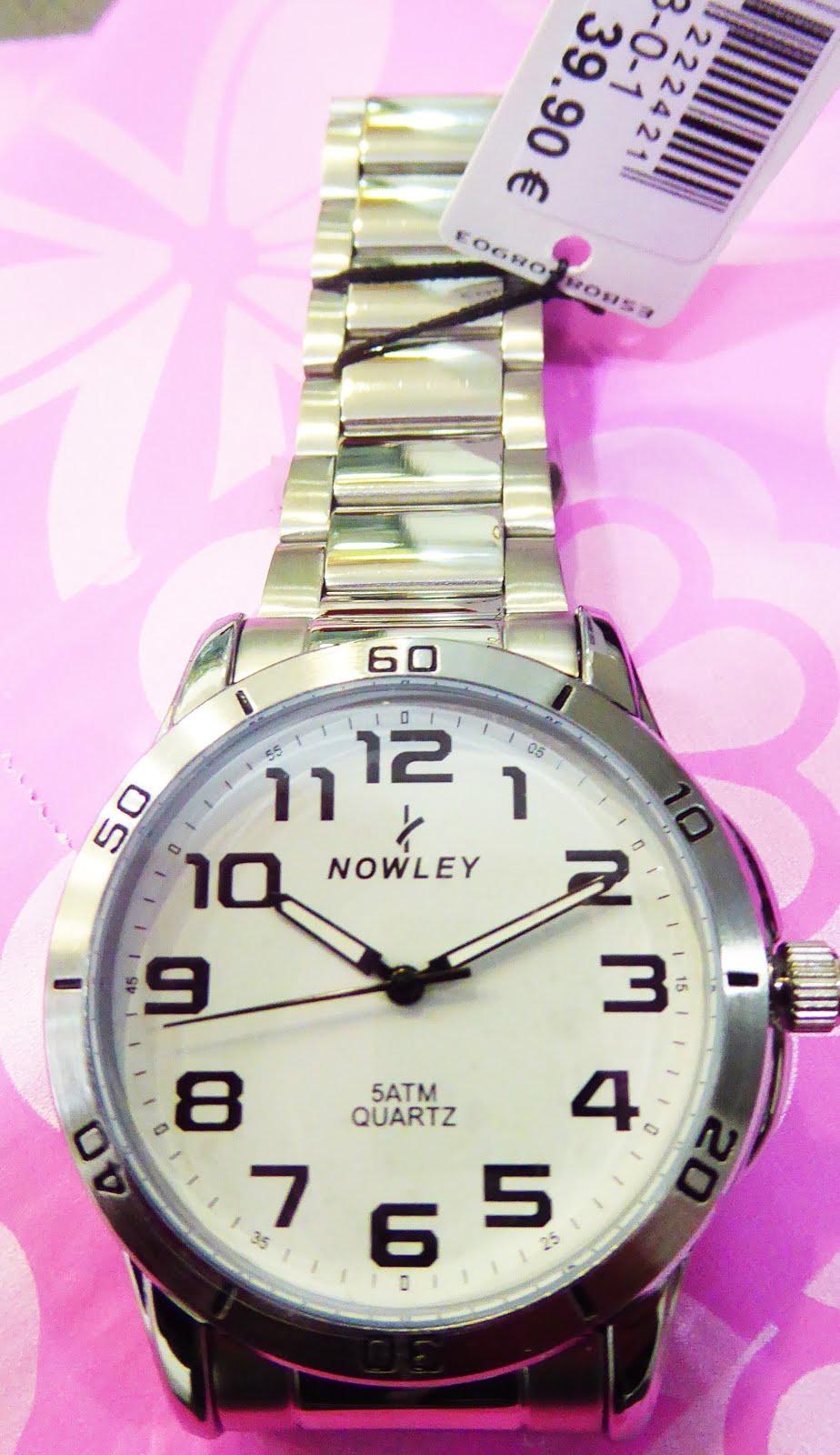 Reloj Nowley, de señora, sumergibles, de acero libre de nikel