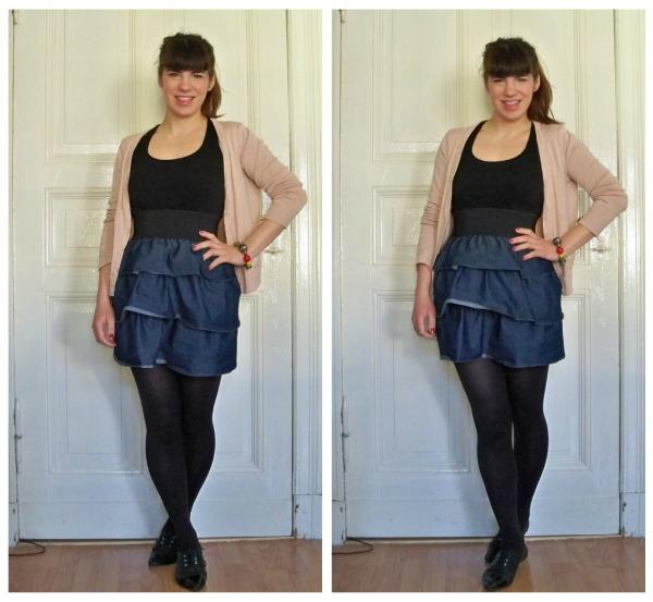 30 Kleidungsstücke für 30 Tage ergeben 30 verschiedene Outfits Tag 30