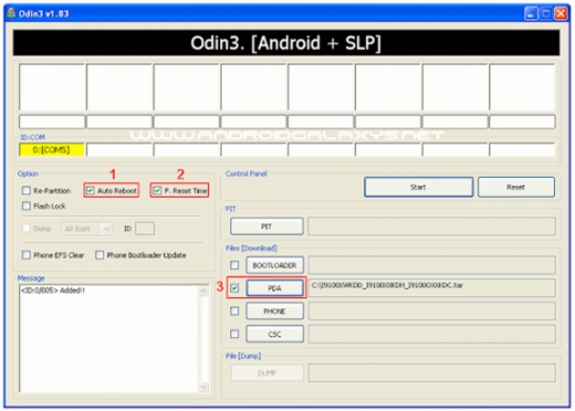 flash firmware via odin Galaxy S3