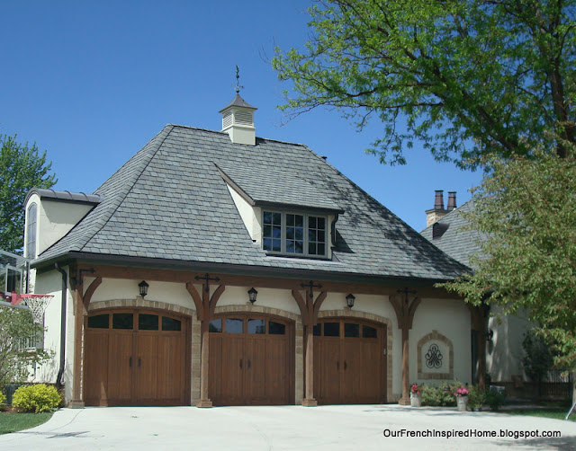 Our french inspired home european style garages and for Garage roof styles