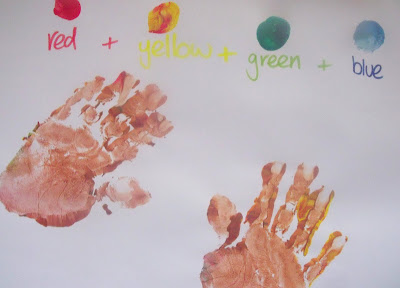 Colour Mixing Early Years Activities