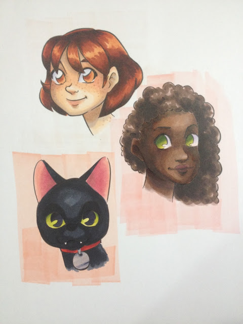 marker paper, Pacon, Pacon Art1st, Copic markers, marker illustration