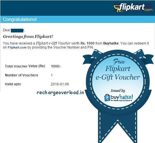 buyhatke 1000 Rs flipkart voucher