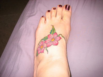 Flower girls tattoos on ankle